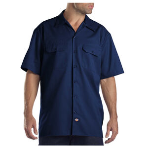 Dickies Men's Twill Work Shirt 2XL Tall Dark Navy