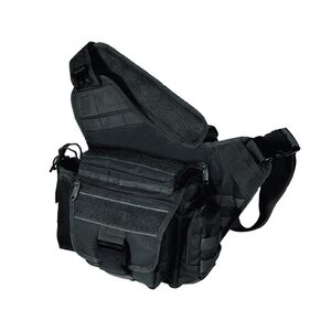 Multi-Functional Tactical Messenger Bag Black Leapers UTG Quick Release Buckle Metal Zippers Adjustable Straps
