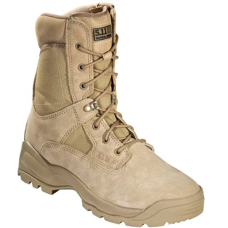 """5.11 Tactical A.T.A.C. Boot 8"""" with Side Zipper Size 11.5 Regular Coyote 12110"""
