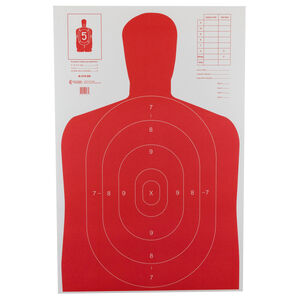 """Action Target B-27E High Visibility Target (Fluorescent Red) 23"""" x 35"""" 100 Pack"""