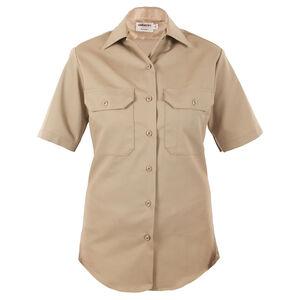 Elbeco LA County Sheriff West Coast Short Sleeve Shirt Women's Size 40 Cotton/Polyester Silver Tan