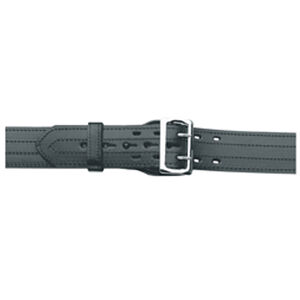 "Gould & Goodrich B59 Lined Duty Belt 42"" Waist 4 Row Stitched Construction Fully Lined 2.25"" Wide Removable Nickel Buckle Plain Black Finish"
