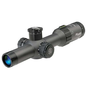 SIG Sauer Tango4 1-4x24 Riflescope Illuminated MOA Milling Reticle 30mm Tube .50 MOA Adjustments Fixed Parallax First Focal Plane CR2032 Battery Black