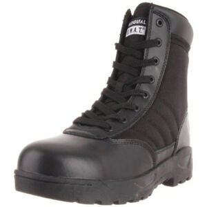 "Original S.W.A.T. Classic 9"" SZ Safety Plus Men's Boot Size 10.5 Wide Composite Safety Toe ASTM Tested Non-Marking Sole Leather/Nylon Black 116001W-105"