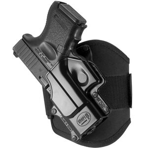 Fobus Ankle Holster Left Hand Fits GLOCK 26/27 Suede Lined Cordura Black