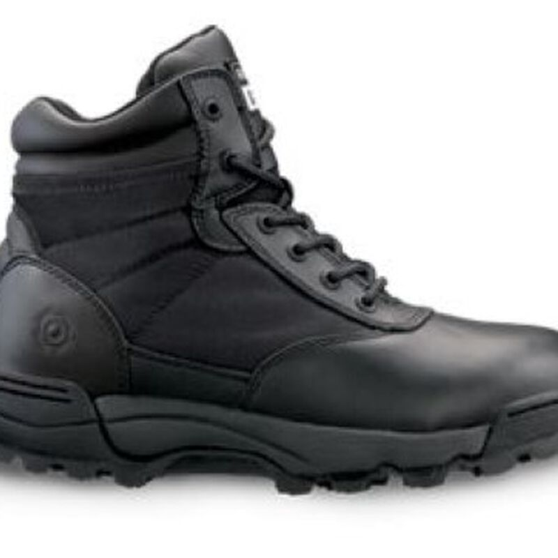 "Original S.W.A.T. Classic 9"" Side Zip Men's Boot Size 7.5 Regular Non-Marking Sole Leather/Nylon Black 115201-75"