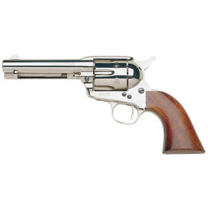 """Taylor's & Co Cattleman .357 Mag Single Action Revolver 4.75"""" Barrel 6 Rounds Walnut Grips Nickel Finish"""