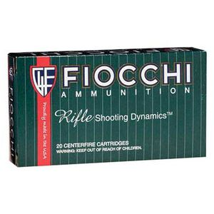 Fiocchi Rifle Shooting Dynamics .243 Winchester Ammunition 20 Rounds 100 Grain SP Interlock BT Projectile 3050 fps