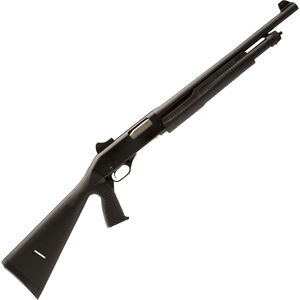 "Stevens 320 Pump Action Shotgun 12 Gauge 18.5"" Barrel 5 Rounds Polymer Stock with Pistol Grip Ghost Ring Sights Black Finish 19495"