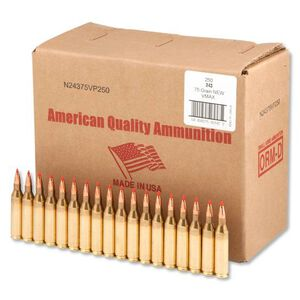 American Quality .243 Winchester Ammunition 250 Rounds Hornady V-Max 75 Grains N24375VP250