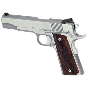 "Dan Wesson Razorback RZ-10 Semi Auto Pistol 10mm Auto 5"" Barrel 8 Rounds Wood Grips Brushed Stainless Finish"