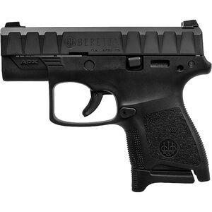 "Beretta APX Carry 9mm Luger Semi Auto Pistol 3"" Barrel 8 Rounds Ergonomic Modular Polymer Grip Frame Black"