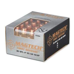Magtech .38 Special Ammunition 20 Rounds SCHP 95 Grains FD38A