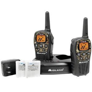 Midland LXT-535-VP3 Two Way Radios 24 Mile Range 22 Channels FRS and GMRS Mossy Oak Camo with Charger LXT535VP3