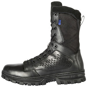 "5.11 Tactical EVO 8"" Waterproof Boot with Sidezip Size 13 Regular Black 12312"