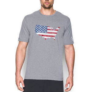 Under Armour Men's Freedom USA Flag T-Shirt Small True Gray Heather