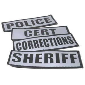 Damascus Protective Gear Reflective Name Plate, SHERIFF