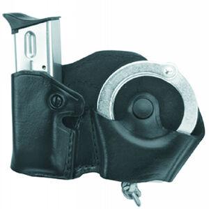 Gould & Goodrich Handcuff and Magazine Holder Case Left Handed Plain Finish Black B841-1LH