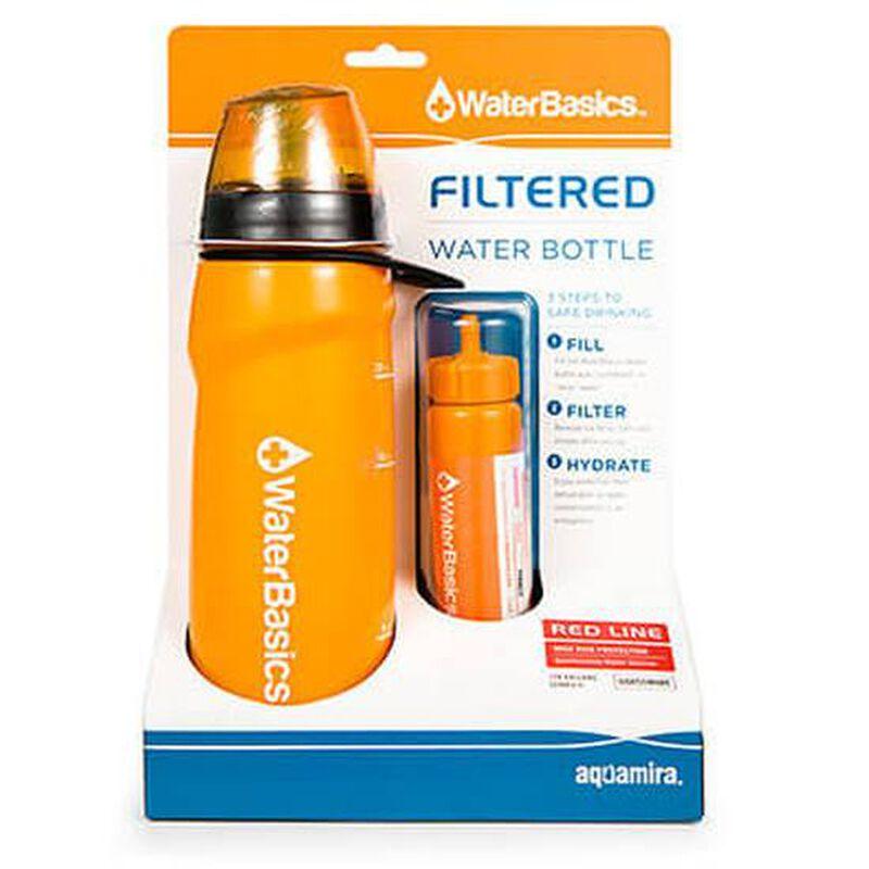 Aquamira Technologies WaterBasics Filter Bottle Red Line Filter 67258