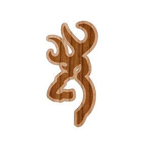 Browning Decal Wood Border Buckmark