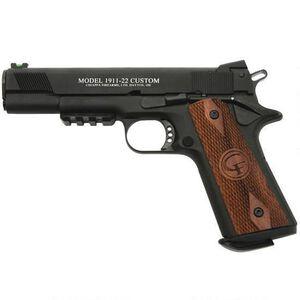 "Chiappa Firearms 1911-22 Custom .22 LR 5"" 10rds Walnut Blk"
