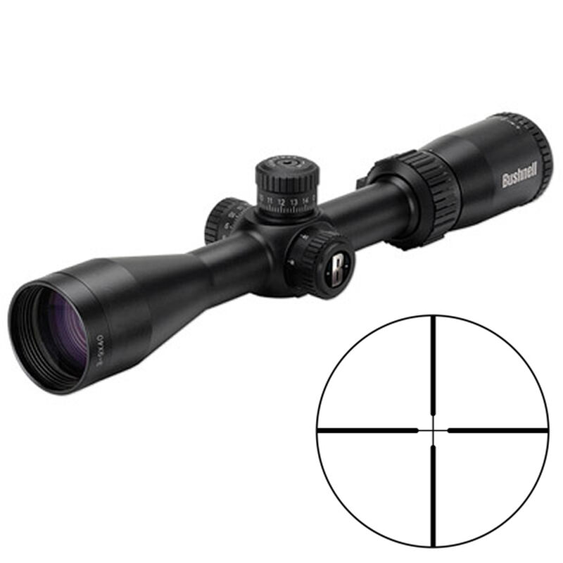 "Bushnell Rimfire Optics 3-9x40mm Rimfire Riflescope Multi-X Reticle 1"" Tube .25 MOA Adjustment Second Focal Plane .22LR/.17HMR Turrets Matte Black 633941"