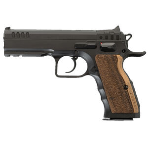 "IFG/FT Italia Stock I Semi Auto Pistol .45 ACP 4.45"" Barrel 10 Rounds Fixed Sights Picatinny Accessory Rail Wood Grip Matte Black Finish"
