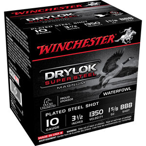 "Winchester Drylok 10ga 3-1/2"" BBB Steel 1-5/8oz 250 Rd Case"