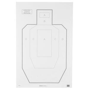 "Action Target IPSC/USPSA Paper Target 23""x35"" Practice Target Black and Gray 100 Pack"