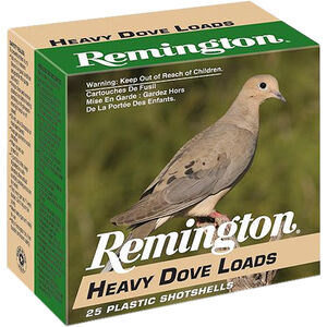 """Remington Heavy Dove Loads 12 Gauge Ammunition 2-3/4"""" Shell #7.5 Lead Shot 1-1/8oz 1255fps"""