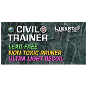 Liberty Ammunition Civil Trainer 9mm Luger Ammunition 50 Rounds 65 Grain Lead Free Frangible Round 1700fps
