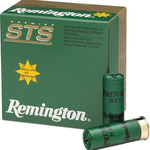 """Remington Premier STS Light Target Loads 12 Gauge Ammunition 2-3/4"""" Shell #8 Lead Shot 1-1/8oz 1200fps"""