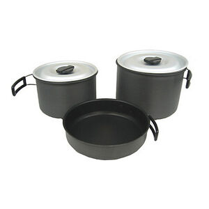 Chinook Ridge Hard Anodized Non Stick Cookset Extra Large 41415