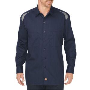 Dickies Men's Long Sleeve Performance Shop Shirt Large Tall Dark Navy/Smoke