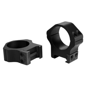 """Warne Maxima Horizontal Fixed Attach Weaver/Picatinny Style Scope Ring 1"""" Tube High Height Matte Black Finish"""