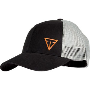 Tikka Cap with Offset Logo Cotton/Mesh Adjustable Fit Black/White