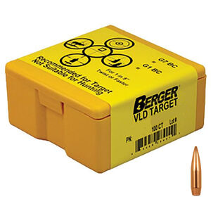 "Berger Bullets 6mm Cal .264"" 105gr VLD HPBT Target Rifle Projectiles Precision Match Grade 100 Count"
