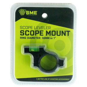 """GSM Outdoor/SME Bubble Level Anti-Cant Scope Leveling Device 30mm/1"""" Tube Compatible Matte Black Finish"""