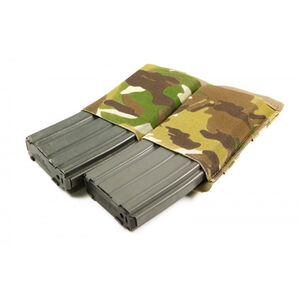 Blue Force Gear M4/AR-15 MOLLE Mounted Double Magazine Pouch Ten Speed Military Grade Elastic Multicam