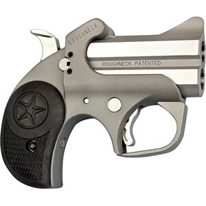 """Bond Arms Roughneck 9mm Luger Derringer 2.5"""" Stainless Steel Barrels Fixed Sights Rubber Grip Matte Stainless Steel Finish"""