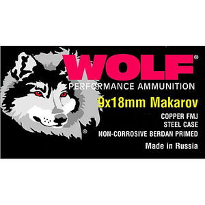 Wolf Performance Military Classic 9x18 Makarov Ammunition 1000 Rounds FMJ 94 Grain