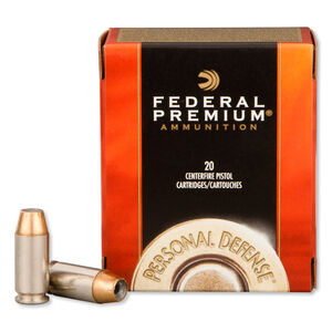 Federal Personal Defense .40 S&W Ammunition 20 Rounds Hydra-Shok Jacketed Hollow Point 155 Grain 1,140 FPS