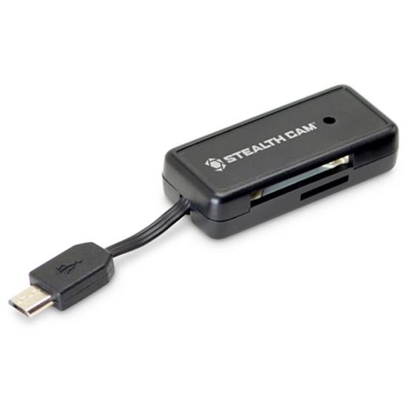 Stealth Cam Memory Card Reader for Android Devices/Tablet with On the Go USB Functionality Matte Black STC-SDCRAND