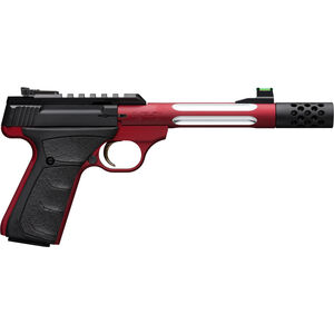 """Browning Buck Mark Plus Lite Competition .22 LR Semi Auto Rimfire Pistol 5.9"""" Threaded Barrel 10 Rounds Picatinny Rail Synthetic Grips Red/Black Finish"""