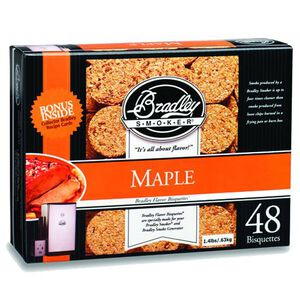 Bradley Smoker Bisquettes Maple 48 Pack BTMQ48