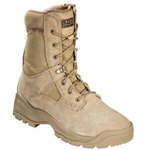 "5.11 Tactical A.T.A.C. Boot 8"" with Side Zipper Size 11.5 Regular Coyote 12110"