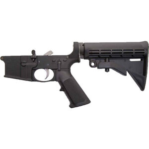 Anderson Manufacturing AR-15 Complete Lower Receiver Assembly .223/5.56 Mil-Spec Closed Trigger Aluminum Black