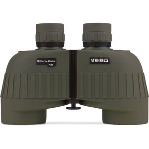 Steiner Military/Marine MM750 Binoculars 7x50mm Floating Prism System Makrolon Housing NBR Rubber Armor OD Green