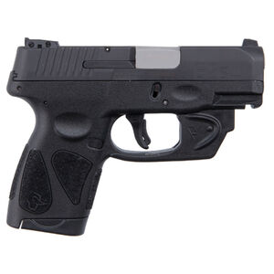 "Taurus G2S Slim 9mm Luger Semi Auto Pistol with Viridian Laser 3.2"" Barrel 7 Rounds Single Action with Restrike 3 Dot Sights Thumb Safety Polymer Frame Black Finish"
