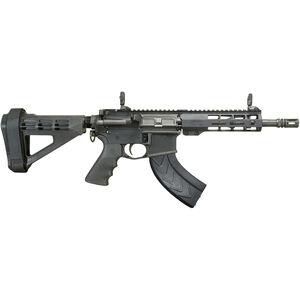 "Windham Weaponry 7.62x39mm AR-15 Semi Auto Pistol 9"" Barrel 30 Rounds Flip Up Sights Free Float Handguard SB Tactical Pistol Brace Black Finish"